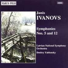 Janis Ivanovs (1906-1983): Symphonien Nr.5 & 12, CD