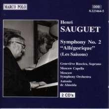 """Henri Sauguet (1901-1989): Symphonie Nr.2 """"Allegorique"""", 2 CDs"""