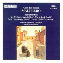 Gian Francesco Malipiero (1882-1974): Symphonie Nr.5,6,8,11, CD