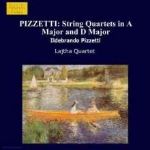 Ildebrando Pizzetti (1880-1968): Streichquartette in A & D, CD