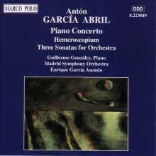 Anton Garcia Abril (geb. 1933): 3 Sonaten für Orchester, CD