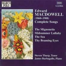 Edward MacDowell (1861-1908): Sämtliche Lieder, CD