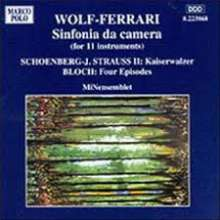 Ermanno Wolf-Ferrari (1876-1948): Sinfonia da Camera op.8, CD