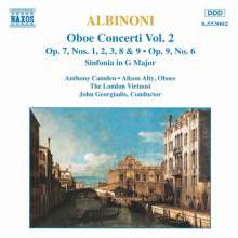 Tomaso Albinoni (1671-1751): Oboenkonzerte op.7 Nr.1-3,8,9, CD