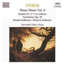 Carl Maria von Weber (1786-1826): Klavierwerke Vol.4, CD