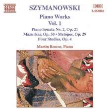 Karol Szymanowski (1882-1937): Sämtliche Klavierwerke Vol.1, CD