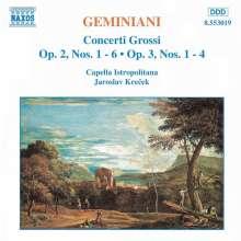 Francesco Geminiani (1687-1762): Concerti grossi op.2 Nr.1-6, CD