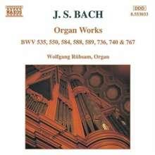 Johann Sebastian Bach (1685-1750): Präludien & Fugen BWV 535 & 550, CD