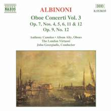 Tomaso Albinoni (1671-1751): Oboenkonzerte op.7 Nr.4-6,11,12, CD