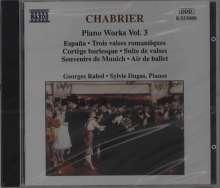 Emmanuel Chabrier (1841-1894): Sämtliche Klavierwerke Vol.3, CD