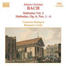 Johann Christian Bach (1735-1782): Symphonien Vol.2, CD