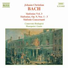 Johann Christian Bach (1735-1782): Symphonien Vol.3, CD