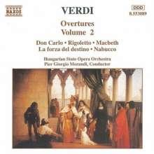Giuseppe Verdi (1813-1901): Ouvertüren Vol.2, CD