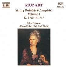 Wolfgang Amadeus Mozart (1756-1791): Streichquintette Nr.1 & 3, CD