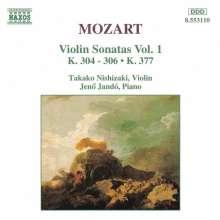 Wolfgang Amadeus Mozart (1756-1791): Sonaten für Violine & Klavier Vol.1, CD