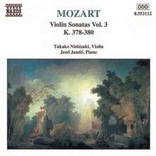 Wolfgang Amadeus Mozart (1756-1791): Sonaten für Violine & Klavier Vol.3, CD