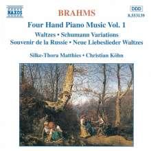 Johannes Brahms (1833-1897): Klaviermusik zu 4 Händen Vol.1, CD