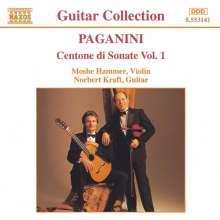 Niccolo Paganini (1782-1840): Centone di Sonate f.Violine & Gitarre Vol.1, CD