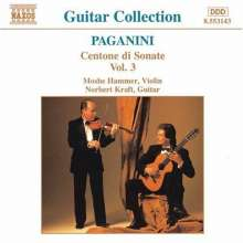 Niccolo Paganini (1782-1840): Centone di Sonate f.Violine & Gitarre Vol.3, CD