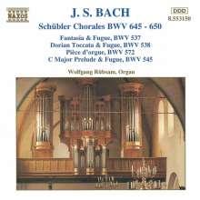 """Johann Sebastian Bach (1685-1750): Choräle BWV 645-650 """"Schübler-Choräle"""", CD"""