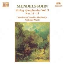 Felix Mendelssohn Bartholdy (1809-1847): Streichersymphonien Nr.10-12, CD