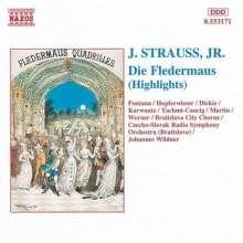 Johann Strauss II (1825-1899): Die Fledermaus (Ausz.), CD