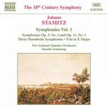 Johann Stamitz (1717-1757): Symphonien Vol.1, CD
