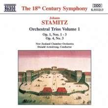 Johann Stamitz (1717-1757): Orchestertrios Vol.1, CD