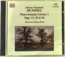 Johann Nepomuk Hummel (1778-1837): Klaviersonaten Vol.1, CD
