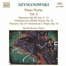Karol Szymanowski (1882-1937): Sämtliche Klavierwerke Vol.2, CD