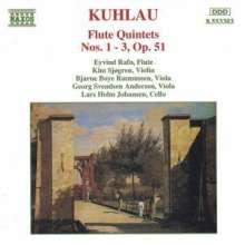 Friedrich Kuhlau (1786-1832): Flötenquintette op.51 Nr.1-3, CD