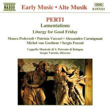 Giacomo Antonio Perti (1661-1756): Lamentationes, CD