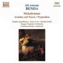 Georg Anton Benda (1722-1795): Ariadne auf Naxos (Melodram), CD