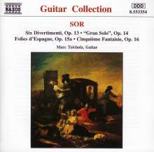 Fernando Sor (1778-1839): Divertimenti op.13 f.Gitarre, CD