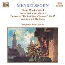 Felix Mendelssohn Bartholdy (1809-1847): Klavierwerke Vol.4, CD