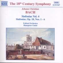 Johann Christian Bach (1735-1782): Symphonien Vol.4, CD
