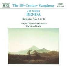 Georg Anton Benda (1722-1795): Symphonien Nr.7-12, CD