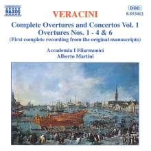 Francesco Veracini (1690-1768): Sämtliche Ouvertüren & Konzerte Vol.1, CD