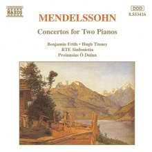 Felix Mendelssohn Bartholdy (1809-1847): Konzerte As-Dur & E-Dur für 2 Klaviere & Orchester, CD