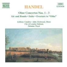 Georg Friedrich Händel (1685-1759): Oboenkonzerte Nr.1-3, CD