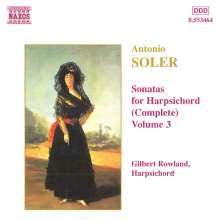 Antonio Soler (1729-1783): Sämtliche Cembalosonaten Vol.3, CD
