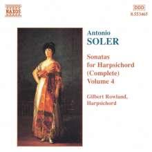 Antonio Soler (1729-1783): Sämtliche Cembalosonaten Vol.4, CD
