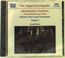 Joseph Payne - Buxheimer Orgelbuch Vol.1, CD