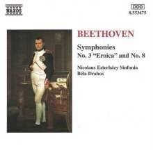 Ludwig van Beethoven (1770-1827): Symphonien Nr.3 & 8, CD