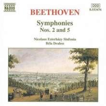 Ludwig van Beethoven (1770-1827): Symphonien Nr.2 & 5, CD