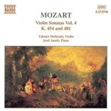 Wolfgang Amadeus Mozart (1756-1791): Sonaten für Violine & Klavier Vol.4, CD