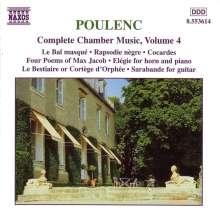 Francis Poulenc (1899-1963): Sämtliche Kammermusik Vol.4, CD