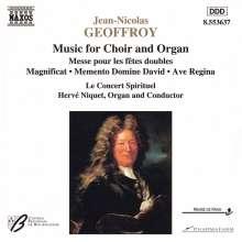 Jean-Nicolas Geoffroy (1630-1694): Messe pour les fetes doubles, CD