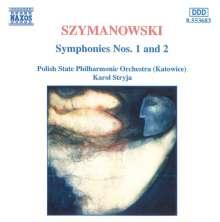 Karol Szymanowski (1882-1937): Symphonien Nr.1 & 2, CD