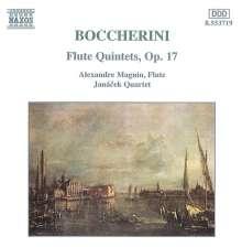 Luigi Boccherini (1743-1805): Flötenquintette op.17 Nr.1-6 (G.419-424), CD